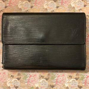 Louis Vuitton black epi leather wallet